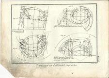 Stampa antica LAVORAZIONE LEGNO Pl16 Enciclopedia Diderot 1790 Old antique print