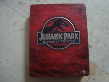 Jurassic Park TRILOGY Blu-Ray 6 disc DEBOSSED SteelBook BOX Steven Spielberg
