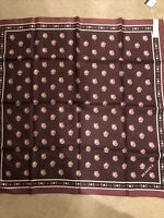 Coach Rose Silk Scarf- One Size/ NWT/ FAST FREE SHIPPING/ SOLD OUT ONLINE
