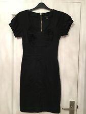 4eadc2d57390f ted baker black dress (6 8) Button Sleeves