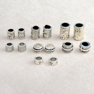 Norse/Viking Rune Beard Beads: Set of 14 Charm Beads for Beards, Hair, Jewellery