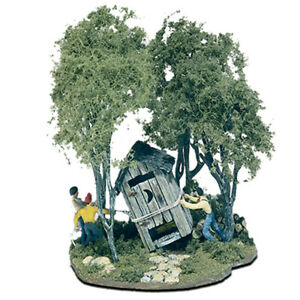 Woodland Scenics M108 Outhouse Mischief HO Scale Kit