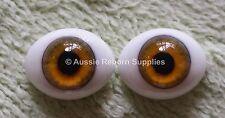 Reborn Baby Oval Glass Eyes 18mm Hazel Doll Making Supplies