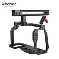 Andoer Camera Cage with Top Handle Grip Video Making Stabilizer BMPCC 4K 6K Y3Z8