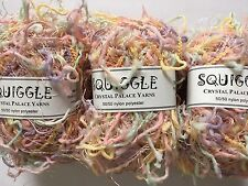 LOT of 3 Crystal Palace Yarns Squiggle #9549 Dreamy - Lilac Pink Yellow Mint