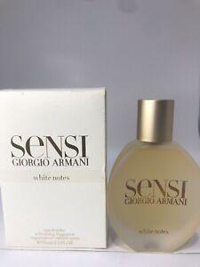 SENSI WHITE NOTES by GIORGIO ARMANI 2.5 oz 75 ml EAU FRAICHE SPRAY AUTHENTIC!! C