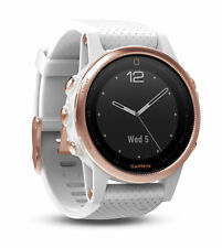 Garmin Fenix 5S Rose Goldtone Sapphire with White Band GPS Multisport Watch