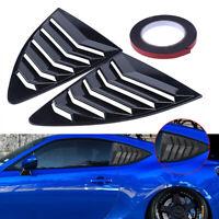 Fit for Subaru BRZ 2012-2018 Pair Carbon Fiber Rear Window Louver Cover Durable