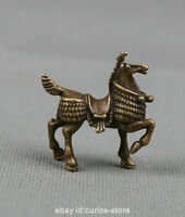 """1.5"""" Collection Curio Chinese Fengshui Bronze Zodiac Animal Likable Horse Statue"""