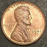 (ITM-1075) 1941-P [RD] Lincoln Cent ~ CHOICE BU Cndtn ~ DIE CRACK MINT ERROR!