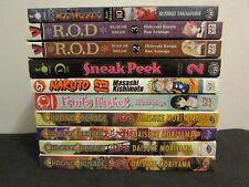 Lot of 10 Manga Books Inuyasha, Chrono Crusade, Naruto etc.