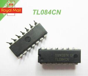 2 x TL084 Op Amp IC (TL084CN) - DIP/DIL14 -  1st CLASS POST