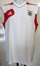 BENFICA WHITE/RED SLEEVELESS SHIRT BY ADIDAS SIZE 48/50 INCH CHEST BRAND NEW
