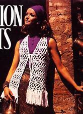 EASY FUNKY FRINGED VEST - COPY Ladies crochet pattern