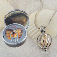 1 Set Wish Pearl Necklace Set Oyster Drop Pendant