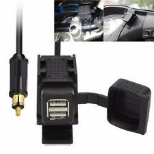 Dual USB Motorcycle 1+2.1A Charger GPS Phone Power Supply Socket For BMW EU Plug