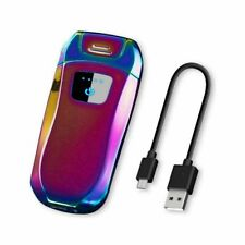 USB Rechargeable Dual Arc Lighter Electric Windproof Flame less Plasma Lighter