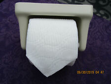 Vintage New Stock Recessed Toilet Paper Holder Almond Glazed Ceramic