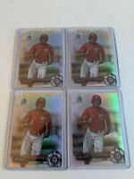 Lot Of 4 2017 Bowman Chrome Prospects Juan Soto Refractors BCP180 /499