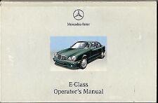 Class E Mercedes-Benz Car Owner & Operator Manuals