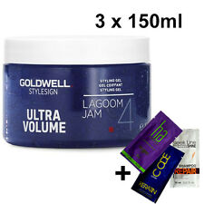 GOLDWELL StyleSign Ultra Volume LAGOOM JAM Hair styling Gel 3 x 150ml + GIFT