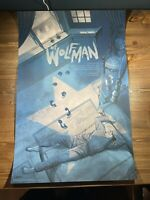 "Mondo ""The Wolfman"" Art Print Poster By Johnathan Burton XX/225 Screen Print"