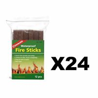 Coghlan's Waterproof Fire Sticks 12-Count Tinder Camping Fire Starters (24-Pack)