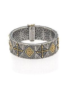 Konstantino Hebe Sterling Silver Bangle Bracelet BKJ536-130 MSRP $3500