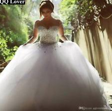 White/Ivory 2018 Vestido De Noiva Wedding Dress Bridal Gown Long Sleeve Custom