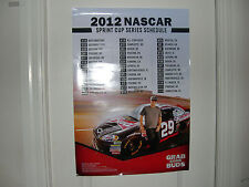 2012 NASCAR SPRINT CUP SCHEDULE BUDWEISER KEVIN HARVICK 29 POSTER LAST ONE IHAVE