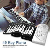 Portable 49 Keys Flexible Roll-Up Piano Electronic Keyboard Hand Beginner Gifts