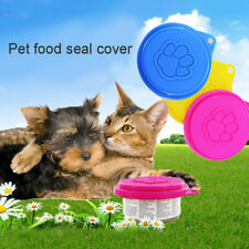 3pcs Pet Food Can Lids Tin Covers For Cat Dog Reusable Random Color Safe Sealed