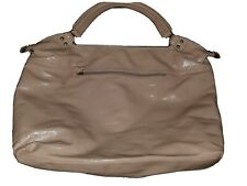 Nine West Brand Women's Large Handbag Purse Pink Color Faux Leather Preowned