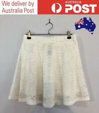 CUTE WHITE LACE A-LINE SKIRT - FLORAL PATTERN, LINED - FACTORIE SIZE S (NEW)