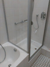 Duschkabine 90x75 185/160 cm Drehtür + Seitenwand  verkürzt Duschabtrennung