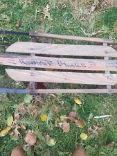Vintage  ROCKET PLANE 46 Wooden & Metal Sled By American Acme Co. # 1954
