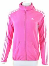 ADIDAS Womens Fleece Jacket UK 10 Small Pink Polyester  Y224