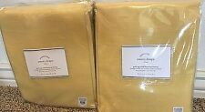 Pottery Barn Emery Grommet BLACKOUT 50x96 drapes TWO panels marigold YELLOW