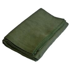 Olive Woollen Blanket Wool Polyester Mix Army Type Green Bedding Throw
