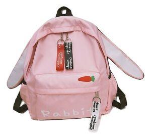 Kawaii Clothing Harajuku Japanese Bag Backpack Ears Pink Rabbit Bunny Bear Cat