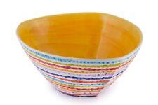 BASSANO dreieckige Schale Streifen geriffelt gelb italienische Keramik 32x14