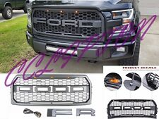 Front Bumper Raptor Style Conversion Grille For 2015-2017 Ford F-150 XLT/Lariat