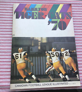 1970 Team Hamilton Vs Winnipeg Tigers Cats Football Program Grey Cup Canadian