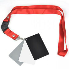 3 in 1 Digital 18% Gray/White/Black Card Set White Exposure Balance+Strap LW