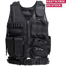 Tactical Vest Adjustable Military Molle Assault Combat Gear Swat Plate Carrier
