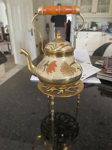 brass teapot stand