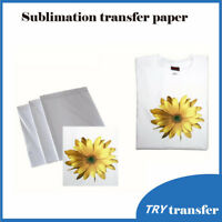 50 Sheets A4 Sublimation Paper Iron On Paper For Fabric T-Shirt Transfer Paper
