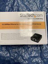 More details for startech.com 10/100 mbps ethernet to usb 2.0 network lpr print serverpm1115u2
