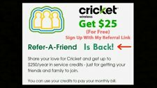 New listing $25 Cricket Wireless Credit Referral Link Only for New Customers NOT FOR BID #2