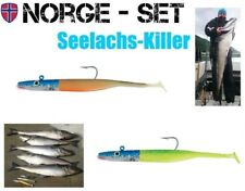 2 Stück Seelachs Killer Set FOX Rage, VMC Lemon Tiger u. Hot Olive je 100g